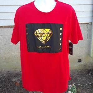 Diamond Dollars Men's Short sleeve shirt size L